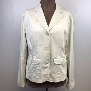 MICHAEL Michael Kors Jackets & Coats - NWOT Michael MICHAEL KORS Cream Blazer Sz 14